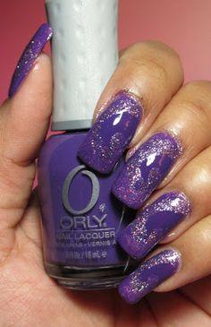 My Simple Little Pleasures: NOTD: Purple Swirl See the tutorial: http://youtu.be/-YdsH41L-qM