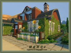 Merci rural house by Danuta720 at TSR via Sims 4 Updates