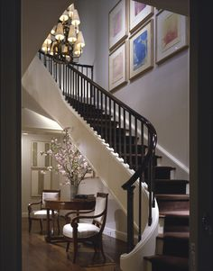 Lovely Interior Staircase Design In Main Hall for Duplex House