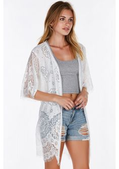 Step out in the sun with this intricate detailed kimono. Soft and lightweight, you'll feel every ...