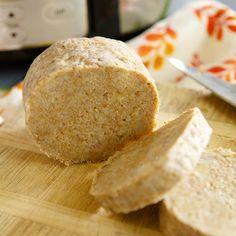 Fitness celozrnný bramborový knedlík - zdravý recept Bajola Vegetarian Recipes, Food And Drink, Potatoes, Bread, Vegan, Fitness, Drinks, Diabetes, Drinking