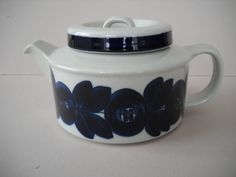 Arabia Finland Anemone Teapot Ulla Procope Design by Modernaire on Etsy