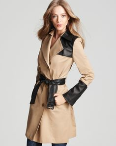 Cynthia Steffe Trench Coat - London Color Block | Bloomingdale's
