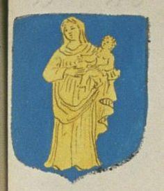 Le Prieuré Commendataire de Notre Dame de Cunault. Porte : d'azur, à une Notre Dame d'or | N° 397 > Saumur