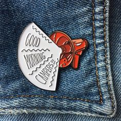 Introducing GOOD MORNING CAMPERS!!! My new soft enamel pin harking back to retro…