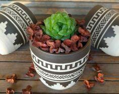 Hecho a orden planter cerámica suculentas plantador de