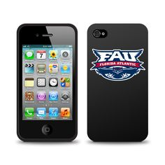Florida Atlantic University Black Phone Case, Classic