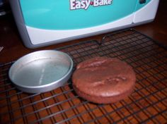Easy bake oven mix...3 TBSP of any boxed cake mix, 1 TBSP milk   notes: this is perfect. We do this all the time.
