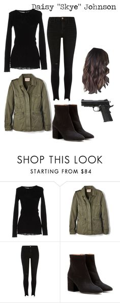 """""""Agents of S.H.I.E.L.D Daisy """"Syke"""" Johnson"""" by neonangel92 on Polyvore featuring Enza Costa, Velvet by Graham & Spencer, River Island, Dries Van Noten and Caliber"""