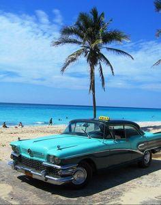A 1958 Buick taxi at Varadero Beach in Cuba Varadero Cuba, Havana Cuba, Beautiful Islands, Beautiful Places, Amazing Places, Places Around The World, Around The Worlds, Cuban Cars, Places To Travel
