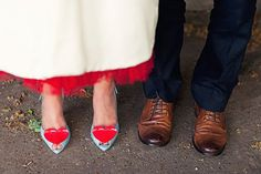 Vintage inspired red, blue, and white London wedding