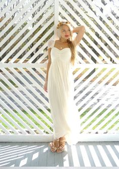 Odessa: Sweetheart boho hippie wedding dress with cap sleeves he likes hate the shoes though