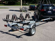 The perfect trailer for transporter your kayaks - Kayak-ity-Yak has them, and the Malone line of accessory transport storage solutions Kayaking Gear, Kayak Camping, Canoe And Kayak, Hiking Gear, Camping Hammock, Hiking Tips, Whitewater Kayaking, Kayak Rack, Kayak Storage