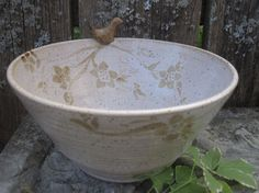 Wildwood Little Bird Bowl by Sweetpea Cottage by SweetpeaCottage, $36.00