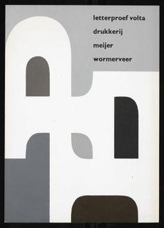 Jurriaan Schrofer - Letterproef vierde deeltje, Drukkerij Meijer Wormerveer, 1963
