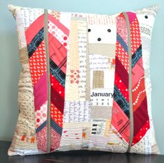 Feather Bed Pillow - using Anna Maria Horner's free feather pattern