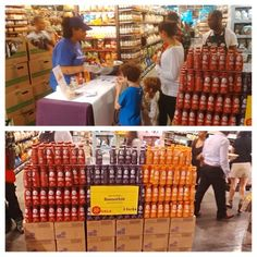 Just doing our thing at @wholefoodsmarket in #Tribeca! @wholefoodsnyc #picstitch #sampling