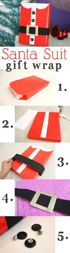 how to wrap a gift from santa - Google Search