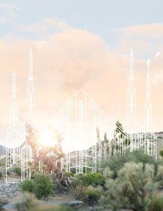 Las Vegas Temple   Mohave Desert Print