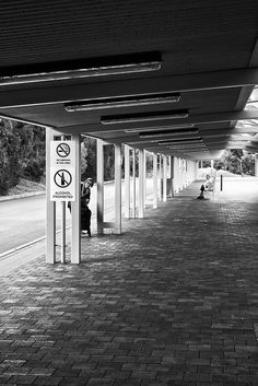 Bus Station Peeking Adelaide Australia  November 2014