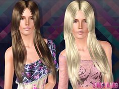 Glossy hairstyle 20 by by The Sims Resource - Sims 3 Hairs Sims 3 Games, Sims Hair, Sims Resource, Female Hairstyles, Hair Styles, Hair Plait Styles, Hair Makeup, Hairdos, Haircut Styles