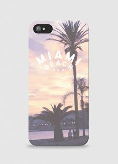 Iphone case Miami Beach by Queen b on Triaaangles