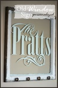 StoneGable: OLD WINDOW SIGN