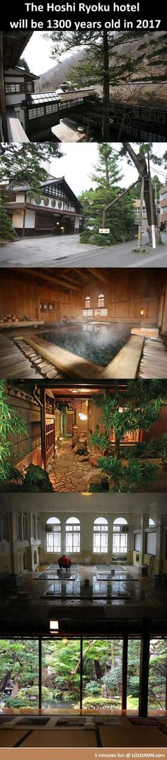 This is Hoshi Ryoku hotel in Japan, it is the oldest hotel and longest running business in the world. Till today it is still functioning and welcome thousands visitors per year. One more thing, it has the most traditional hot #spa. It's location is in Komatsu,#Japan. See more on it's website: Hoshi Ryoku #hotel
