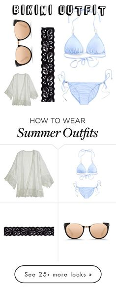 """Collection Of Summer Styles    """"Bikini summer beach outfit"""" by fionnamc on Polyvore featuring Linda Farrow, Melissa Odabash, Calypso St. Barth and Akira    - #Outfits  https://fashioninspire.net/fashion/outfits/summer-outfits-bikini-summer-beach-outfit-by-fionnamc-on-polyvore-featuring-linda-farrow-mel/"""