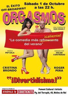 'Orgasmos, la comedia!', llega a #MolinsdeRei |  #ocio #teatro #evento
