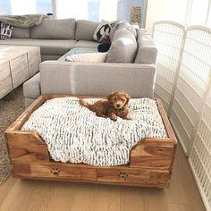 puppy room design idea 11 ~ Home Design Ideas Animal Room, Dog Bedroom, Bedroom Ideas, Puppy Room, Diy Dog Bed, Cute Dog Beds, Best Dog Beds, Diy Bed, Dog Spaces