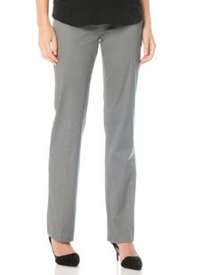 Secret Fit Belly Sateen Straight Leg Maternity Pants in grey from Destination Maternity