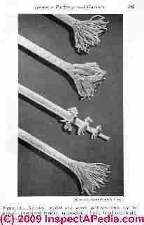 Asbestos braided rope and packing (C) D Friedman (Rosato)