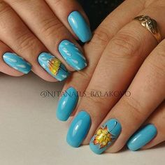 @pelikh_Фотография Gorgeous Nails, Love Nails, Fun Nails, Autumn Nails, Winter Nails, Light Blue Nails, Celebrity Nails, Nails 2018, Fall Nail Colors