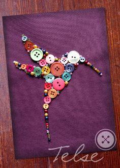 """Postkarte """"Kolibri"""" von Telse Ahrweiler       Kunst + Design auf DaWanda.com"""