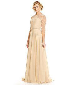 Lasting Moments Embellished Chiffon Gown #Dillards