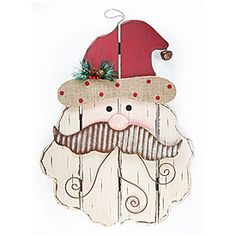 Rustic Santa Wall Hanging Christmas Decor at Big Lots. #BigLots
