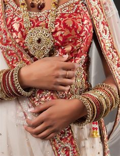 Check out this great Look I found on http://www.AsianBride.me #Red   #White   #Bridal sets   #Chura