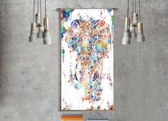 Gift Elephant geometric wall art mandala tapestry wall hanging yoga boho bohemian decor large art abstract painting poster gift for womens by ThestoryoftheFall on Etsy https://www.etsy.com/listing/253211807/gift-elephant-geometric-wall-art-mandala
