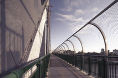The historic Story Bridge in the heart of Brisbane recently got an unobtrusive security overhaul with the addition of a 3 meter high safety barrier made possible with flexible X-TEND Mesh. Carl Stahl, Architectural Engineering, Fence Design, Beautiful Architecture, North America, Bridge, Safety, Mesh, Australia