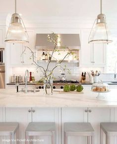 - Overview - Details - Why We Love It Going for the industrial pendant look over your kitchen island? Consider this prismatic glass version for an airier alternative to the metal shade. Available in t