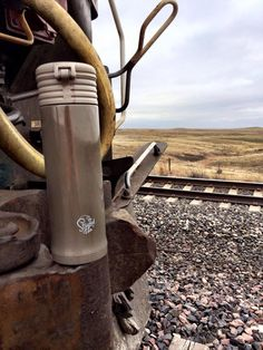 Cecilee was able to capture this great shot of an Earl Grey Pop Top Tumbler at the front of a train!