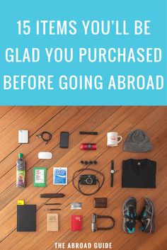 If you're studying abroad soon, you've probably forgotten some of these important items. 15 Items You'll Be Glad You Purchased Before Study Abroad. study abroad tips, study abroad travel, study overseas, travel abroad tips Travel Info, Packing Tips For Travel, Travel Essentials, Travel Hacks, Paris Packing, Traveling Europe, Traveling Tips, Travel Gadgets, Travel Stuff