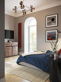 Фото из статьи: Квартира с угловой планировкой для матери и сына в европейском духе