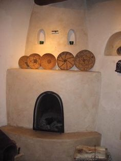 Kiva fireplace & viga ceilings - very southwest | Bliss and ...