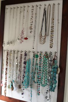 DIY Necklace Organizer-- this will be a summer project of mine