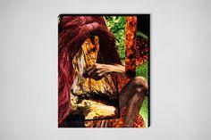 """Saatchi Online Artist: Erin Case; Paper, 2012, Assemblage / Collage """"Button Up"""""""