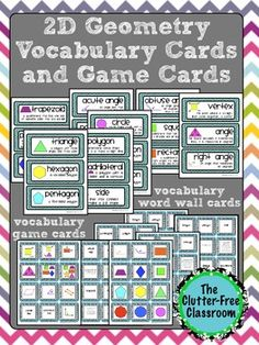 Please note this product is also available as part of my cost-saving 13 Product Geometry Bundle. This packet includes: Colorful Vocabulary. Geometry Vocabulary, Teaching Geometry, Geometry Activities, Teaching Math, Math Activities, Maths, Teaching Ideas, Math Word Walls, Vocabulary Word Walls