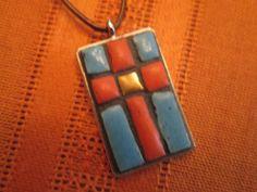 Julie N Unruh created mosaic ceramic tile by rootsandwingsvintage, $42.00
