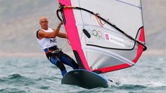 Dorian Van Rijsselberge of Netherlands competes in the men's RS:X Sailing. Olympics #Olympics